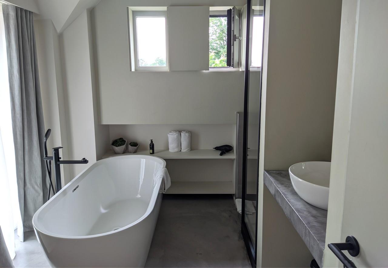 Faisanderies logements insolites Ronchinne: baignoire